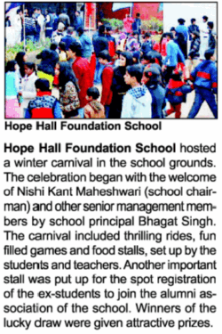 Winter Carnival | Hope Hall Foundation School